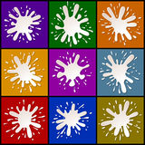 Milk Blots Splashes Set Royalty Free Stock Photography