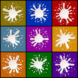 Milk Blots Splashes Set Royalty Free Stock Photos
