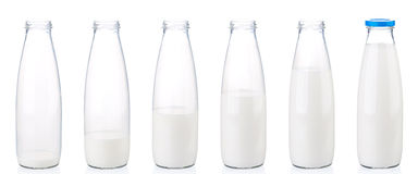 Milk bottle Stock Photos