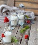Milk in a bottle Stock Photos