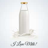 Milk bottle Stock Images