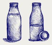Milk bottle. Doodle style Stock Images