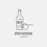 Milk Bottle Icon Stock Photo