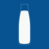 Milk bottle illustration. Royalty Free Stock Photos
