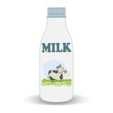 Milk bottle Stock Image
