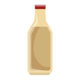 Milk bottle isolated icon Stock Photography