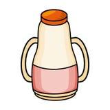 Milk bottle isolated icon Stock Photos
