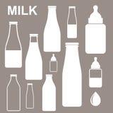Milk. Bottle royalty free illustration
