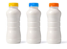 Milk bottle isolated Royalty Free Stock Photography