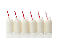 Milk Bottle Row Stock Images