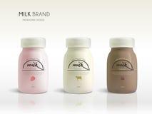 Milk bottle template design Stock Photography