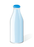 Milk bottle Stock Image