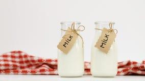 Milk bottle fresh dairy products stock image