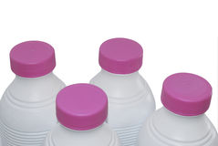Milk bottles Royalty Free Stock Photos