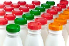Milk bottles Stock Image