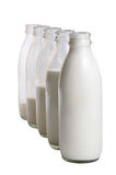 Milk bottles Royalty Free Stock Image