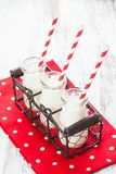Milk in bottles Royalty Free Stock Photography