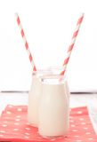 Milk in bottles Royalty Free Stock Photos