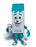 Milk box character. 3-dimensional character of the milk box Stock Photo