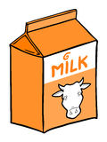 Milk box Royalty Free Stock Images