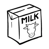 Milk box  Royalty Free Stock Photo