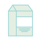 Milk box drink isolated icon Stock Photos