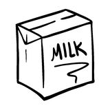 Milk box illustration Stock Photography