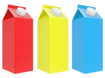 Milk boxes Royalty Free Stock Photos