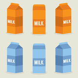 Milk Boxes Royalty Free Stock Photo