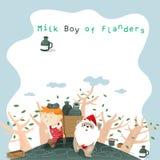 Milk Boy frame Stock Photo