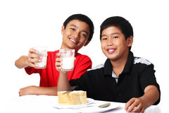 Milk boys Royalty Free Stock Photos