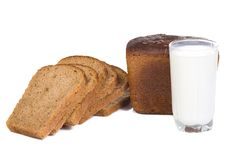 Milk and bread Royalty Free Stock Photography