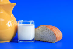 Milk And Bread Stock Photos