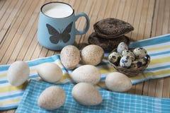 Milk, bread, eggs Stock Image
