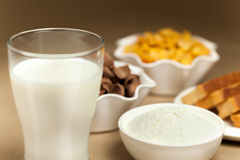 Milk breakfast Stock Image