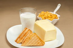 Milk breakfast Royalty Free Stock Photo