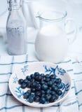 Milk breakfast Stock Images