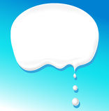 Milk bubble for text - vector Stock Photography