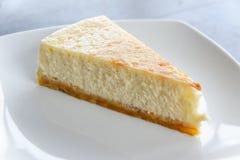 Milk cake. Dessert delicious on White plate royalty free stock photo