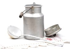 Milk can open Stock Photos