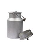 Milk can open Stock Image