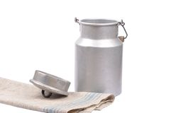 Milk can open Royalty Free Stock Image