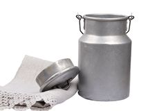 Milk can open Stock Photography