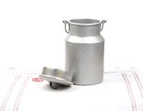 Milk can open Royalty Free Stock Photo