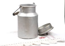 Milk can open Royalty Free Stock Images