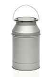 Milk canister. Milk container. Over white bakground Royalty Free Stock Photography