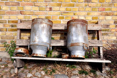 Milk cans Royalty Free Stock Photo