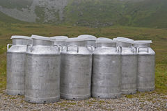 Milk cans Stock Images