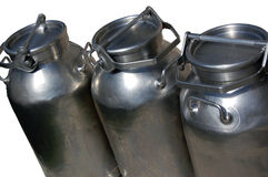 Milk cans Royalty Free Stock Images