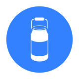 Milk cans icon black. Single bio, eco, organic product icon from the big milk black. Royalty Free Stock Images